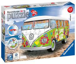 Cover of Volkswagen T1 Hippie Style 3D-Puzzle 162 Piece puzzle - 4005556125326