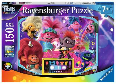 Cover of Trolls 2 World Tour XXL 150 piece Puzzle - Ravensburger - 4005556129133