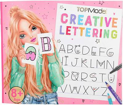 Cover of Top Model Creative Lettering Colouring