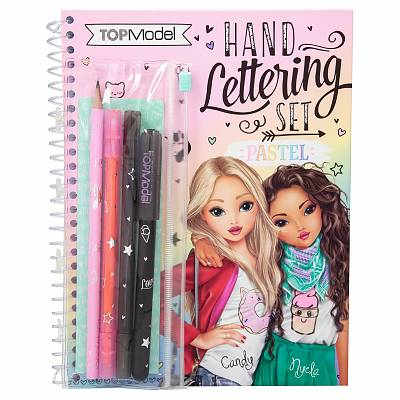 Cover of Top Model Colouring Book Set Handlettering - 4010070449155