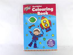 Cover of First Sticker Colouring Book