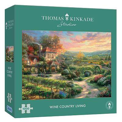 Cover of Wine Country Living 1000 piece puzzle Thomas Kinkade