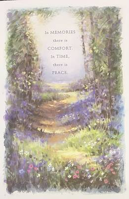 Cover of In Memories there is Comfort. In Time there is Peace. - Uk Greetings - 5029376572398