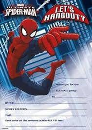 Cover of Spider-Man Party Invitations 20 Pack - UK Greetings - 5034933807509