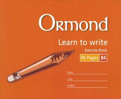Cover of Ormond B4 Handwriting Copy