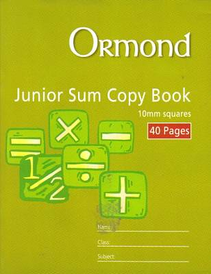 Cover of Ormond Junior Sum Copy 10mm