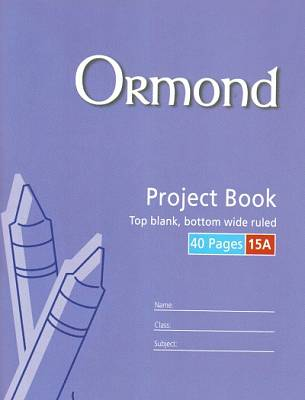 Cover of Ormond No 15A Project Copy