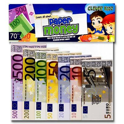 Cover of Clever Kidz Pkt.70 Paper Euro Money Set