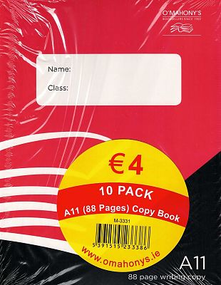Cover of A11 88 Page Writing Copy (Pack of 10)