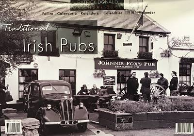 Cover of 2021 A4 Calendar - Traditional Irish Pubs - Glen Gallery - 5397242103114