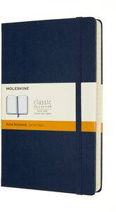 Cover of Moleskine Expanded Large Ruled Hardcover Notebook : Sapphire Blue - Moleskine - 8053853606235