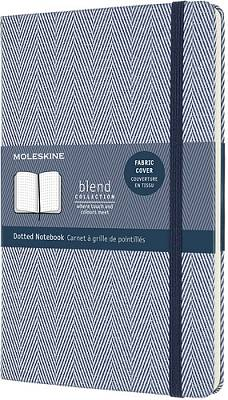 Cover of Moleskine Limited Collection Blend 2020 Large Dotted Notebook : Herringbone Blue - Moleskine - 8056420851908