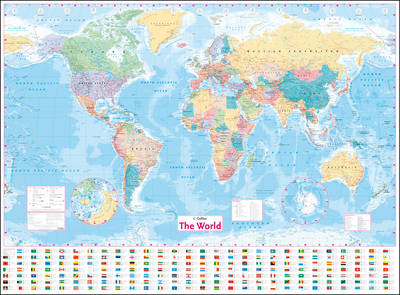Cover of Collins World Wall Laminated Map - Collins Maps - 9780008211561