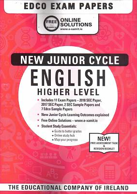 Cover of English Higher Level Junior Certificate Exam Papers - Edco - 9780861676347