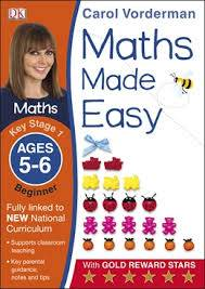 Cover of Maths Made Easy Ages 5-6 Key Stage 1 Beginner