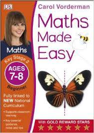 Cover of Maths Made Easy Ages 7-8 Key Stage 2 Beginner: Ages 7-8, Key Stage 2 beginner