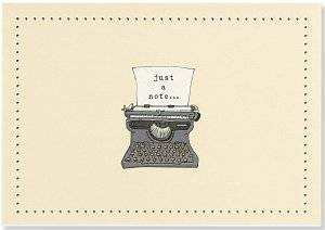 Cover of Typewriter Note Cards