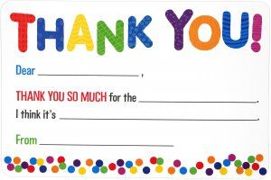 Cover of Children's Fill-In Thank You Notes (20 Cards)