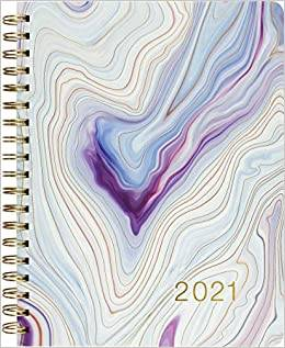Cover of 2021 Blue Agate Desk Diary - Inc Peter Pauper Press - 9781441333513