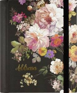 Cover of Midnight Floral Large Address Book - Peter Pauper Press - 9781441334831