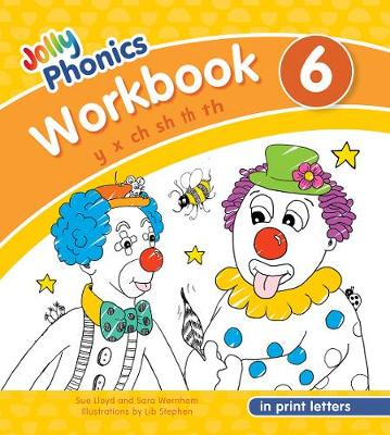 Cover of Jolly Phonics Workbook 6: in Print Letters (American English edition) - Sue Lloyd - 9781844146802
