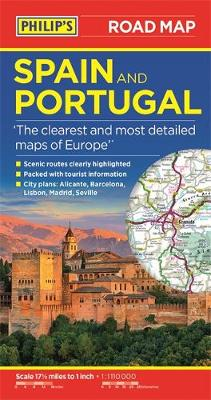Cover of Philip's Spain and Portugal Road Map - Philip's Maps - 9781849075435