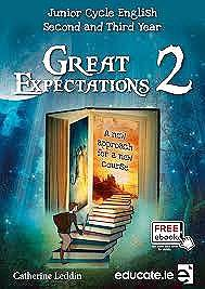 Cover of Great Expectations 2 Textbook & Portfolio Junior Cert - Catherine Leddin - 9781910052853