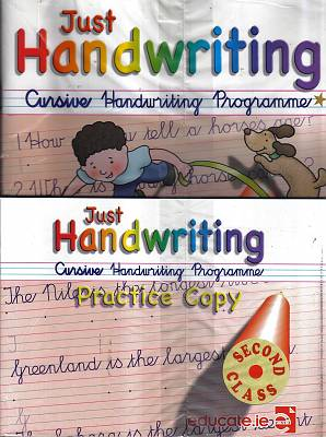 Cover of Just Handwriting Cursive 2nd Class - Sarah McCarthy Grainne Keating - 9781912725281