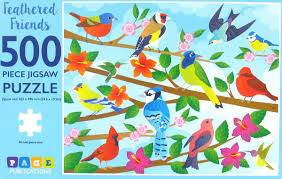 Cover of Feathered Friends 500 piece puzzle - 9781951086909